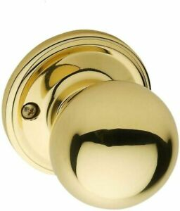 Copper Creek BK2090PB Ball Dummy Door Knob, Polished Brass