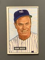1951 Bowman #183 Hank Bauer VG/VG+ New York Yankees