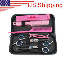 "Portable Stainless Steel 6"" Shears Comb Barber Hair Cutting Thinning Scissor Set"