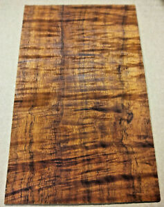 CURLY KOA LUTHIER HEADPLATE / PEGHEAD VENEER BLANK EXOTIC WOOD #3