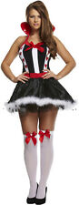 Queen Of Hearts Alice In Wonderland Adult Book Week Fancy Dress Costume P7975