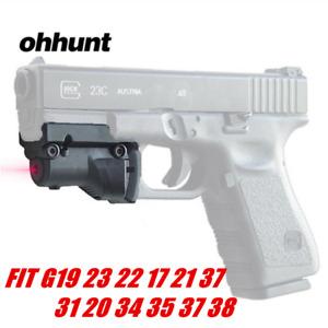 ohhunt Hunting Pistol Red Dot Laser Sight Scope for Glock 19 23 22 17 21 37 31