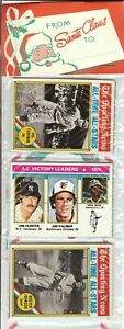 1976 Topps Baseball Holiday Christmas Rack Pack Dennis Eckersley Rookie RC? A-7