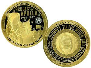 PROJECT APOLLO COLOSSAL COMMEMORATIVE COIN PROOF VALUE$139.95