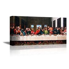 Framed The Last Supper Jesus Religious Wall Art Prints Canvas Picture Home Decor