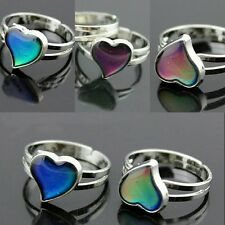 Ladies/Child's Heart Colour Changing Mood Ring Adjustable One Size Fits All UK