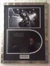 "Angus Young FRAMED Genuine Signed AC/DC VINYL ""Back In Black"" RARE AFTAL COA (B)"