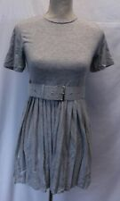 ASOS DESIGN Women's Belted Pleated Mini Skirt Dress AN3 Gray Size US:4 UK:8 NWT