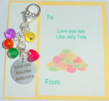 "Novelty Gift Handbag Charm ""I Love you Lots Like Jelly Tots"" on Gift Card"