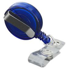 5x Retractable Reel Recoil ID Badge Lanyard Name Tag Key Card Holder Belt C O1I1