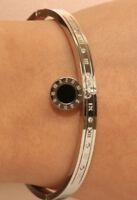 18K White Gold Finish 0.5 Carat Elegant Diamond Bangle Bracelet