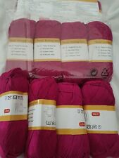 Bundle of hand knitting yarn .Cerise . 12 balls 600g in total.