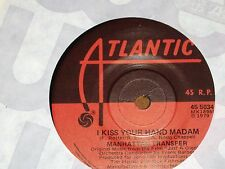 "MANHATTAN TRANSFER *RARE 7"" 45 ' I KISS YOUR HAND MADAM ' 1979 VGC"