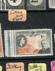 NORTHERN RHODESIA (P1508B)  QEII  RHODES SET   SG 54-8   MOG