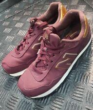 New Balance 515 Burgundy & Gold classics Trainers uk shoe size 7