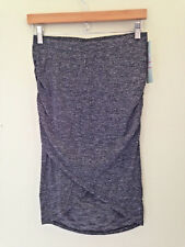 NWT LOLA by AFG Athleisure Sexy Gray Ruched Stretch Cotton Pencil Skirt S $54