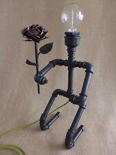 ARTE DI Tubo Lampada Steampunk Robot Lampada INNAMORATI ROSE Industriale Lampada Da Tavolo Lampada Loft.