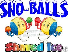 Sno Balls Shaved Ice Decal 24 Cup Snow Cones Concession Cart Trailer Sticker