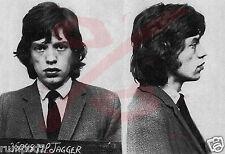 Vintage Mug Shots of Famous People/Celebrity Arrest Pictures/Mick Jagger