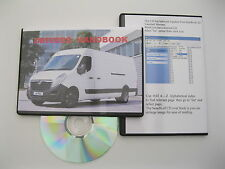 VAUXHALL MOVANO OWNERS MANUAL HANDBOOK - CD  2010 2011 2012 2013 SPECIFICATION