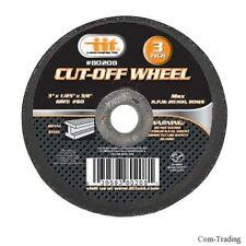 "10-Pack 3"" Flex Cut-Off Discs Wheels For Metal Cutting Grinding Welds 3/8"" Arbor"