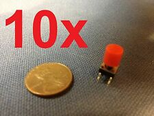 Red 10 pieces + plastic cap 6x6x7mm Tactile Push Button Switch 10pcs 10x c1