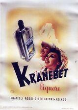 """""""KRANEBET"""" Affiche originale entoilée  litho 1946     75x105cm"""