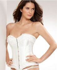 NEW Jezebel Bridal Corset with Lace 34962 White Polyester  Spandex Medium
