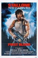 FIRST BLOOD (1982) ORIGINAL MOVIE POSTER  -  FOLDED  -  DREW STRUZAN ARTWORK