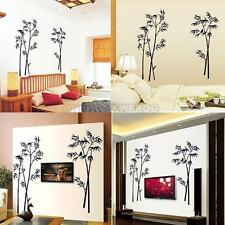 UN3F Bamboo Mural Removable Craft Art Black Wall Sticker Decal Living Room Decor