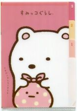 San-X Sumikko Gurashi Index 3 Pockets A6 Mini Plastic File Folder #5