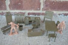 Marx WWII Army Headquarters Furniture Accessories 1/32 54MM Training Center
