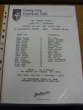 25/07/1998 Teamsheet: Derry City v Portymouth [Friendly] (Issued After the Game)