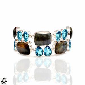 Labradorite Blue Topaz Bracelet B4245