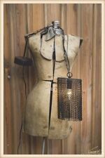 Industrial Hanging Accent Light Distressed Chain Metal Black Plug or Hardwire