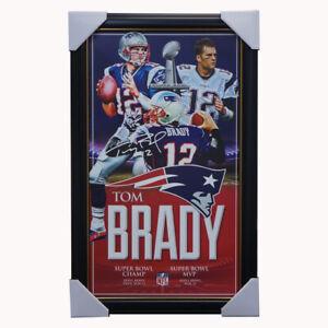 Tom Brady New England Patriots NFL Champion Print Framed - Superbowl Champino