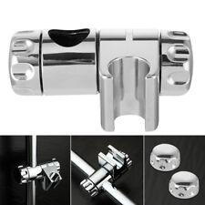 Replacement 25mm ABS Chrome Shower Rail Head Slider Holder Adjustable Bracket