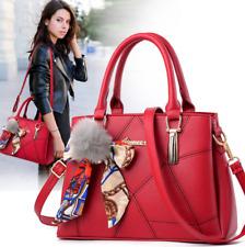 Women Faux Leather Handbags Shoulder Purse Messenger Satchel Crossbody Tote Bags