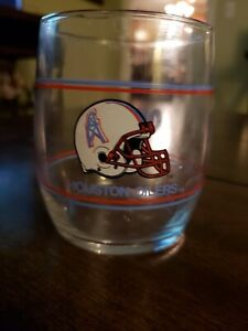 Rare: Now Defunct Houston Oilers Vintage Beverage Glass. Mint Condition.