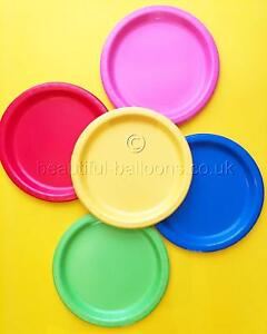 5 packets of 8 Rainbow paper Plates multi coloured rainbow theme 40 paper plates