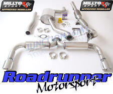 "Milltek Golf GTI MK6 Exhaust Turbo Back 3"" Inc Cat 200 Cell (RES REAR SILENCER)"