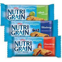 Kellogg's Nutri-Grain Cereal Bars Asstd: Apple Blueberry Strawberry 1.3oz Bar 48
