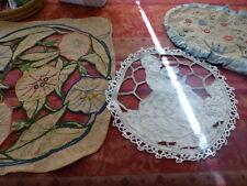 lot=les napperons  art déco brodés main