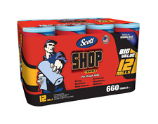 Scott Shop Towels Blue Original Multi Purpose 12 Roll Case Absorbs Grease