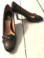 Enzo Angiolini Women's Shoes Bosgrove Black Leather Heels Size 10