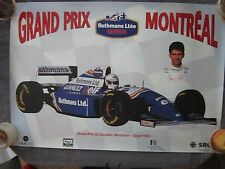 WILLIAMS / DAMON HILL Formula One Motor Racing Poster / Grand Prix Montreal