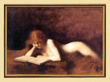 Peintre 19. JH. Jean Jacques Henner les lire acte France sur toile 10
