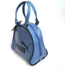 PUMA Handtasche Retro Bowlingbag Bowling Tasche Lederoptik blau  NEU