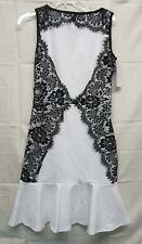 NEW Doneli Fashion Women's BELLA Lace Sleeveless Dress In Black/White Size S