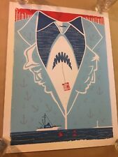 Jaws Print Numbered Limited Edition of 70 Approx 19 x 25 Inches Hero Complex